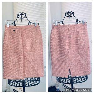 JCREW Lined Pencil Skirt No. 2 wool peach pink 4
